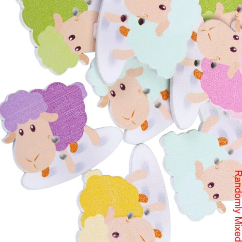 GeroniGombok - Új bárányos fa gombok (10db)