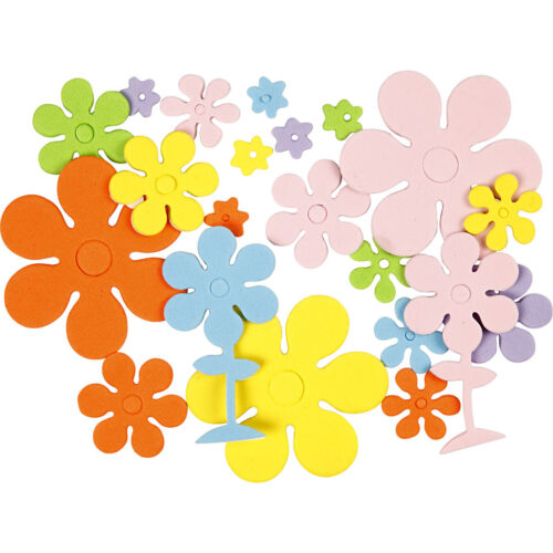 GeroniGombok - Öntapadós dekorgumi virágok (100 db)