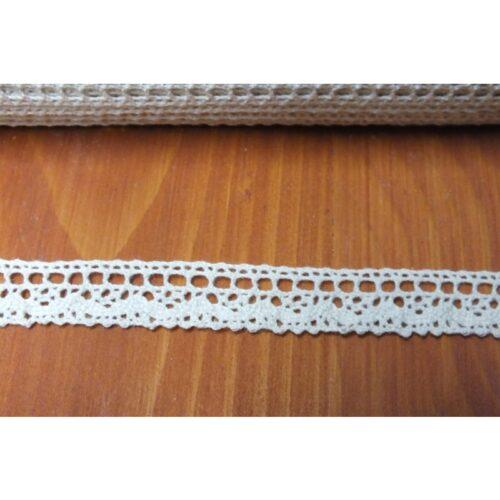 GeroniGombok - Ekrü színű pamut csipke 16mm (1m)