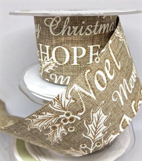 bordó karácsonyi felirattal 38 mm (1m)