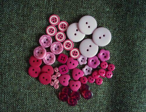 GeroniGombok - Rózsaszín gombválogatás műanyag gombokkal (50db)