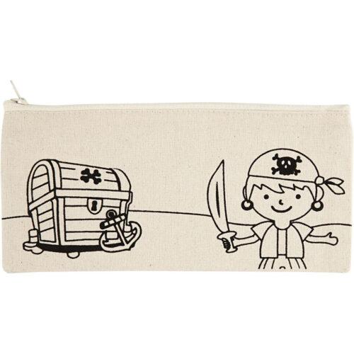 GeroniGombok - Szinezhető tolltartó - kalózos (1 db)