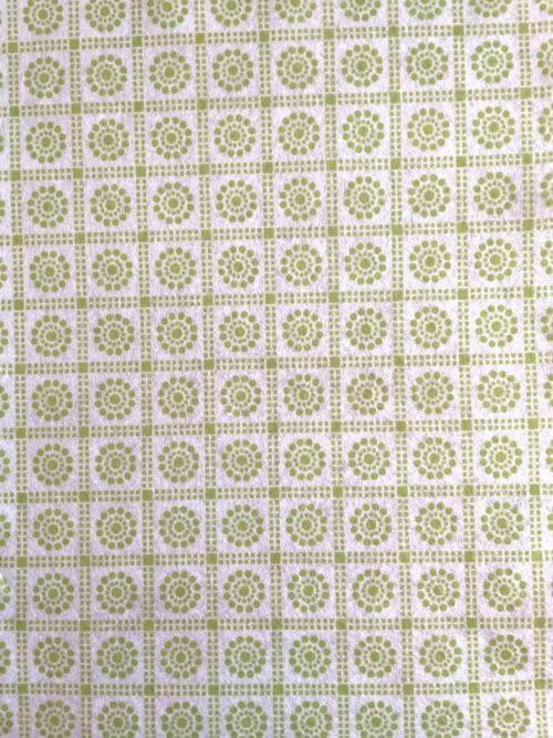 GeroniGombok - Zöld virágos filc lap (A/4)